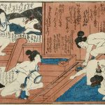 Six women in a bathhouse